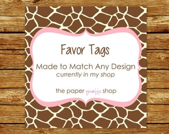 Made to Match Favor Tags | Made to Match Party Printables | Party Printables Made to Match Any Design in my Shop | Favor Tags