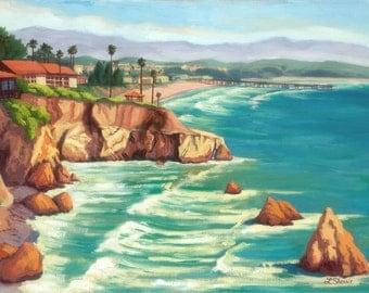 Ceramic Art Tile: Pismo Beach Coastline, CA