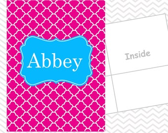 Personalized Ornamental Folder - Custom School Folder - Folder with Name - Back to School Gift