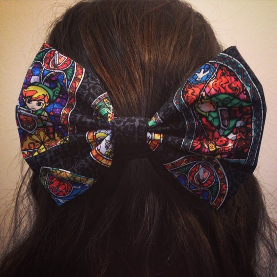 Zelda Stained Glass Hair Bow