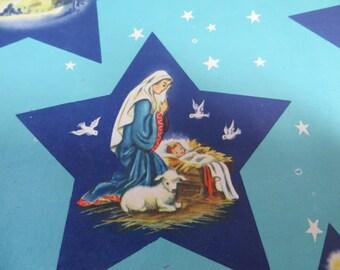 Bethlehem Star Vintage Christmas Wrapping Paper