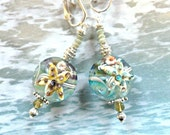 Arty Glass Starfish Clip Earrings