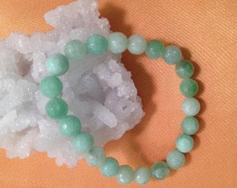Natural Jade Bracelets, 8mm