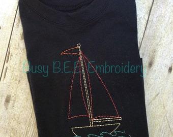 Vintage Stitch Sailboat