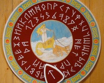 "Ouija board - Spirit board - Talking board ""Freya"" / Any Alphabet & Free Shipping"