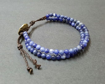 Double  Chain  Sodalite  Bracelet
