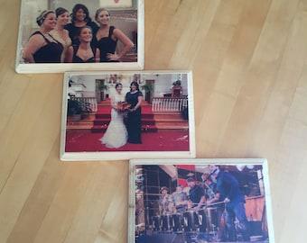 Distressed Custom Wood Photos - Set of 3