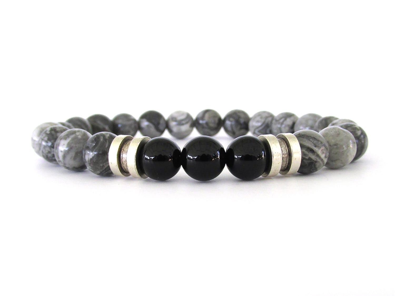 gray jasper s bracelet s bead bracelet by