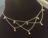 O Dry Those Tears! Edwardian inspired Swarovski crystal and sterling silver necklace