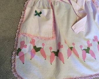 Pink Poodle Half Apron Retro All the Way