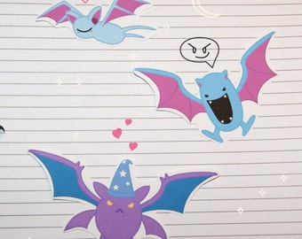 Zubat/Golbat/Crobat Stickers and Magnets