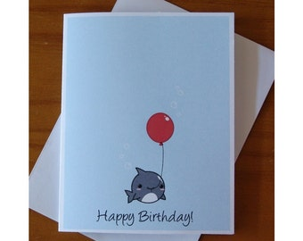shark birthday party  etsy, Birthday card