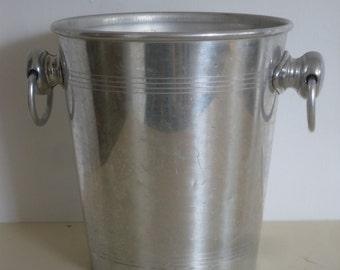 Vintage Mid Century,Spun Aluminum Ice Bucket