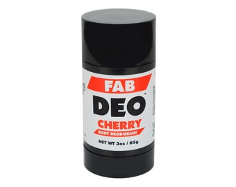 CHERRY Natural Deodorant Deoderant Stick Vegan