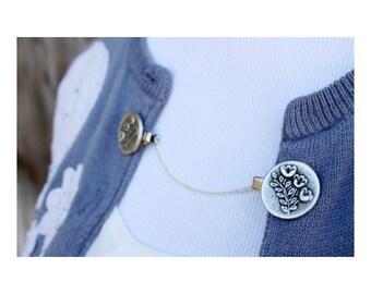 Sweater Guard Cardigan Clip Collar Clip Vintage Inspired Retro Jewelry - Georgianna