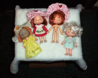 "Vintage Lot 5"" Poseable Strawberry Shortcake Dolls"