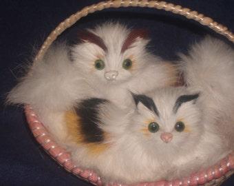 Vintage Kittens in a Basket