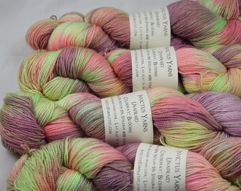 Blooms Unafraid Superwash Merino/Nylon/Stellina fingering weight shimmer sock yarn