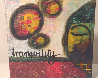 Original Mixed Media Artwork - Tranquility