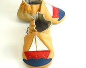 soft sole baby shoes handmade ship on yellow 2 3 years ebooba 52-5