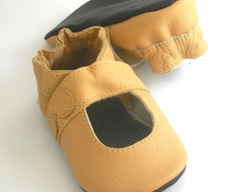 soft sole baby shoes handmade infant gift sandal yellow 18 24 m ebooba SN-12-Y-M-4