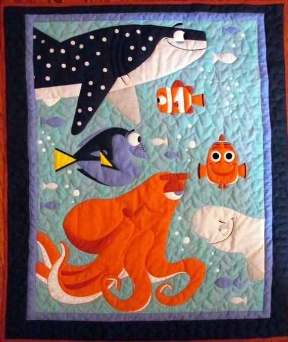 Finding Dory Quilt Dory Nemo Destiny Hank Bailey Marlin : nemo quilt - Adamdwight.com