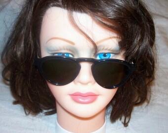 Vintage-BL-Ray-Ban-Glossy-Black-Ebony-Gatsby-Style-7-Sunglasses