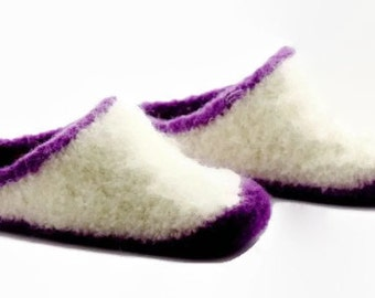 Womens MADE TO ORDER felted wool slippers
