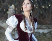 "20% DISCOUNT! Medieval dress and vest ""Found Princess""; italian cotton dress; wedding dress"