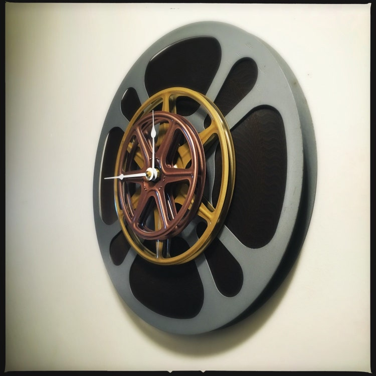 Film Reel Wall Clock Home Theater Decor Movie By