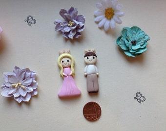 Clay Flatback princess or prince embelishment deco topper xx bridesmaid