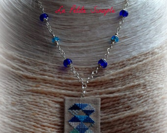 """""""Silver feathers and blue-harmony"""" necklace"""