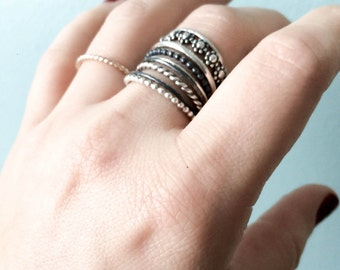 Stackable sterling silver rings