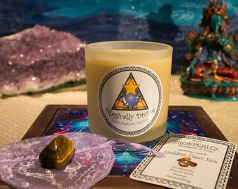Prosperity- Reiki Healing Candle & Crystal