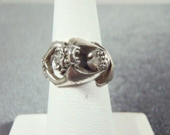 Sterling Silver Taz Ring Sz. 6 R179