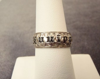 Sterling Silver Kuuipo Band Ring Sz. 7 1/2  R51