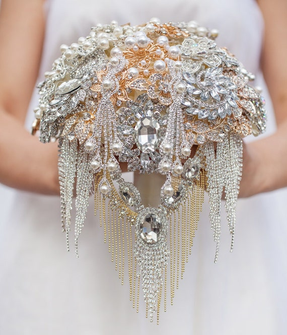The Great Getsby brooch bouquet Jeweled Bouquet