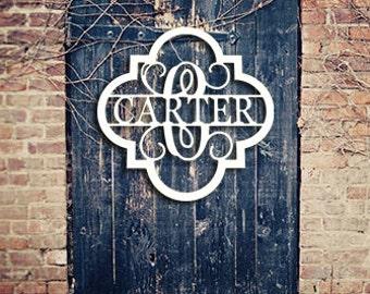 Wooden Monogram - Unpainted Wood Monogram - Family Monogram - Wedding Gift - Housewarming Gift - Personalized Door Hanger - Wooden Name