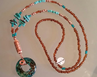 Genuine Turquoise Eyeglass Lanyard Beaded Glasses Holder