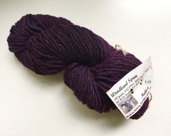 60% Off Farmhouse Woodland Spun Hand Dyed Bulky Lamb's Wool Mulberry Purple 110 yards 4.5 Oz