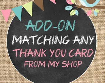 "Matching Thank you card ***Only digital file***  4""x6"" or 5"" x 7"""