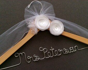 Bride, Bridal Hanger, Wedding Dress hanger, Custom Wedding Hanger, Shower Gift, Wedding. Shower