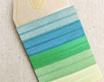 Perfect Hair Ties - Emerald City - Set of 5 Elastic Hair Ties