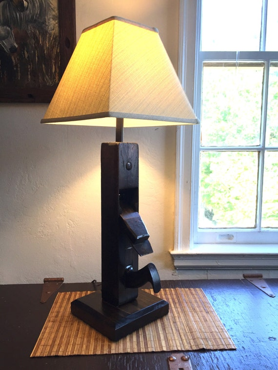 Antique Wood Hand Plane Lamp