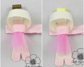 Ballerina Ribbon Sculpture Clip