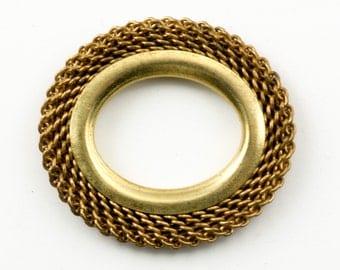 36 Woven Mesh Bezel Settings, 28x24mm Vintage Brass Patina, Open Ring Frame, Steampunk Industrial Finding, Destash Jewelry Supplies