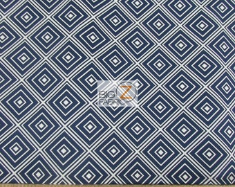 Metro Living Diamonds Navy By Robert Kaufman 100% Cotton Fabric - Sold By The Yard (FH-2496) Geometric
