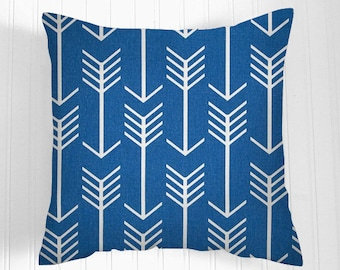 Pillows Cobalt  Decorative Throw Pillow Covers  Cobalt  Cushion Covers  Many Sizes   Accent Pillows  Gray Pillows