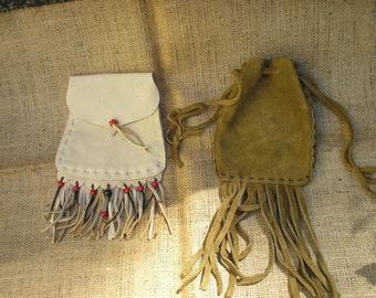 Buckskin pouche