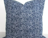 BLUE PILLOWS Blue Throw Pillows Dark Blue Throw Pillow Covers Blue Decorative Pillows Small Chevron 16 18x18 20 .All Sizes. Home and Living